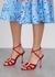 Ticuna 100 red silk sandals - Manolo Blahnik