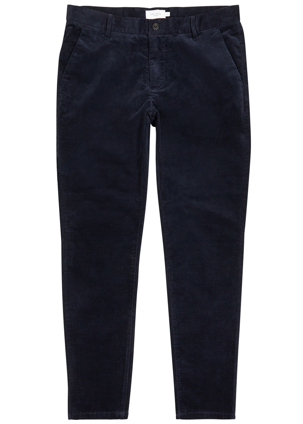 Como navy slim-leg stretch-corduroy trousers