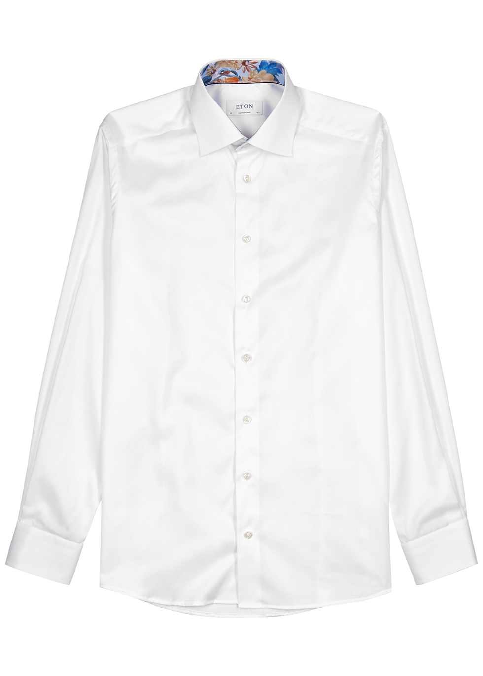 White contemporary cotton-blend shirt