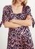 Lenora animal print silk dress - Kitri
