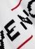 White logo-intarsia cotton sweatshirt - Givenchy