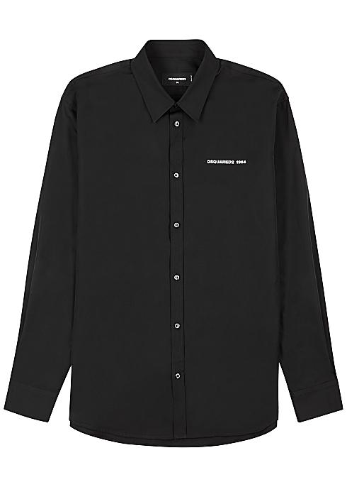 DSQUARED2 Black logo cotton shirt