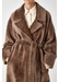 Oversized shearling trench coat - Gushlow & Cole