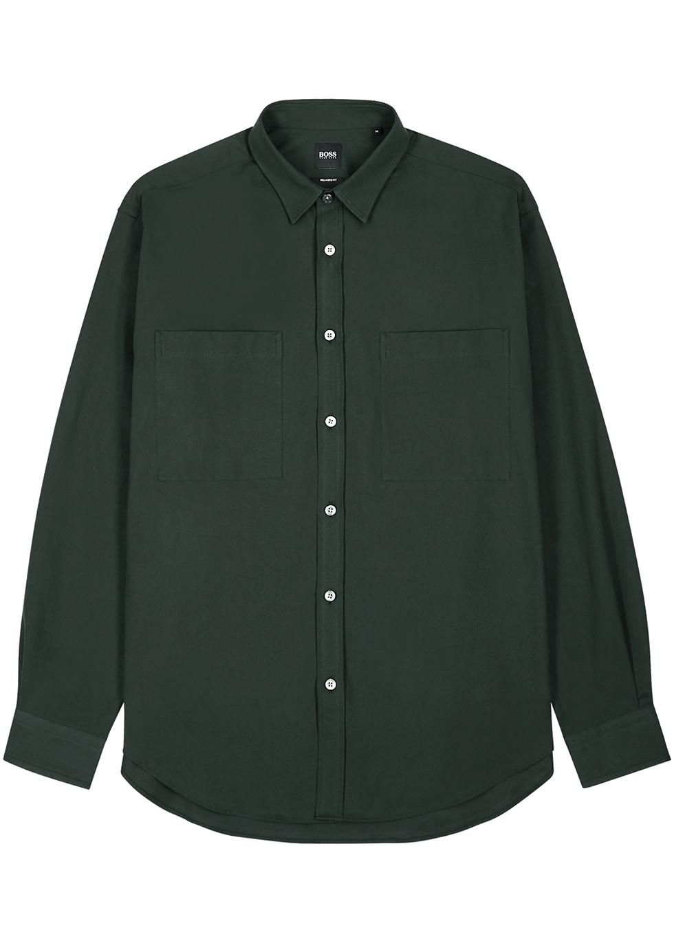 Dark green cotton shirt