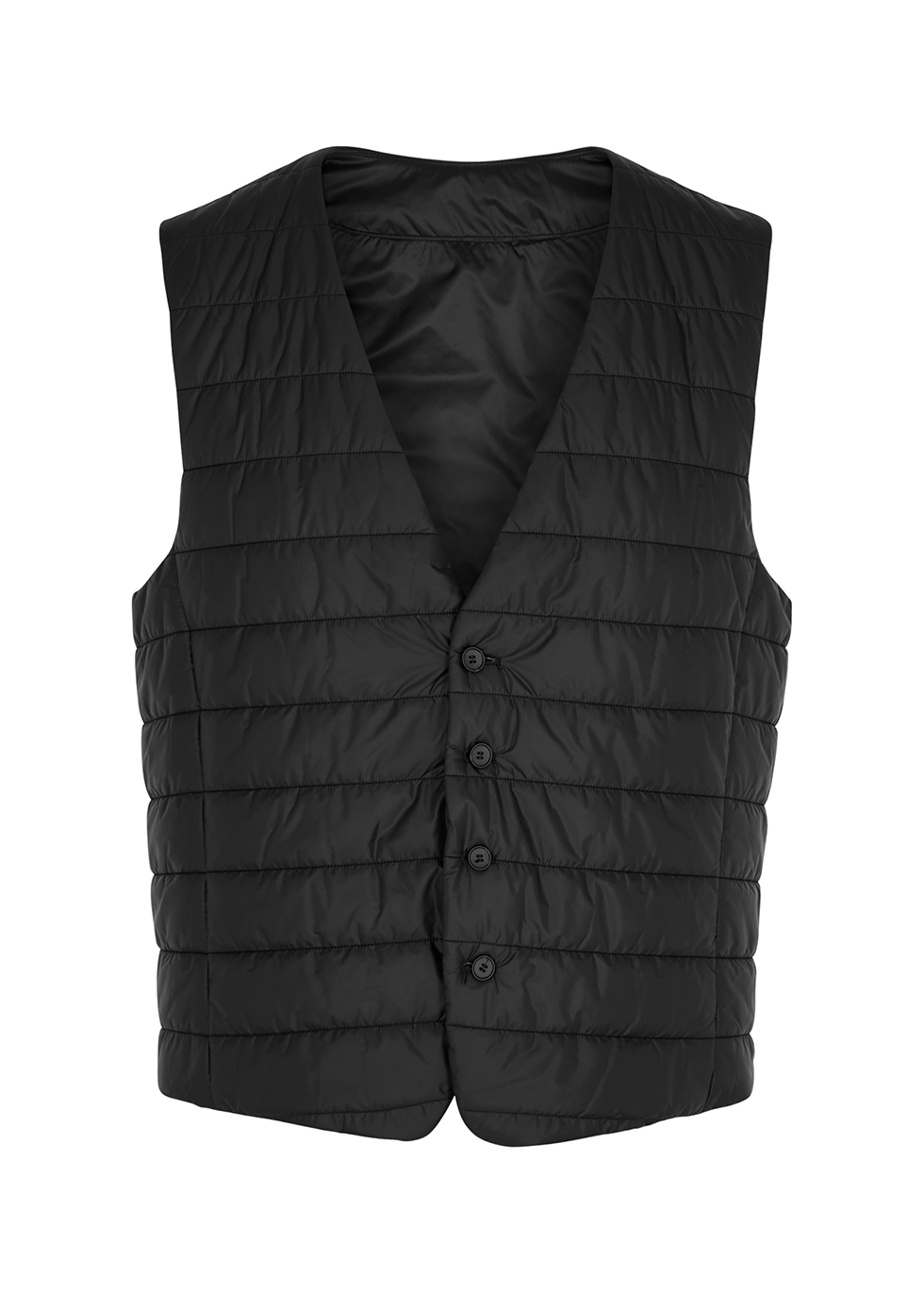 Hiwan black quilted shell gilet