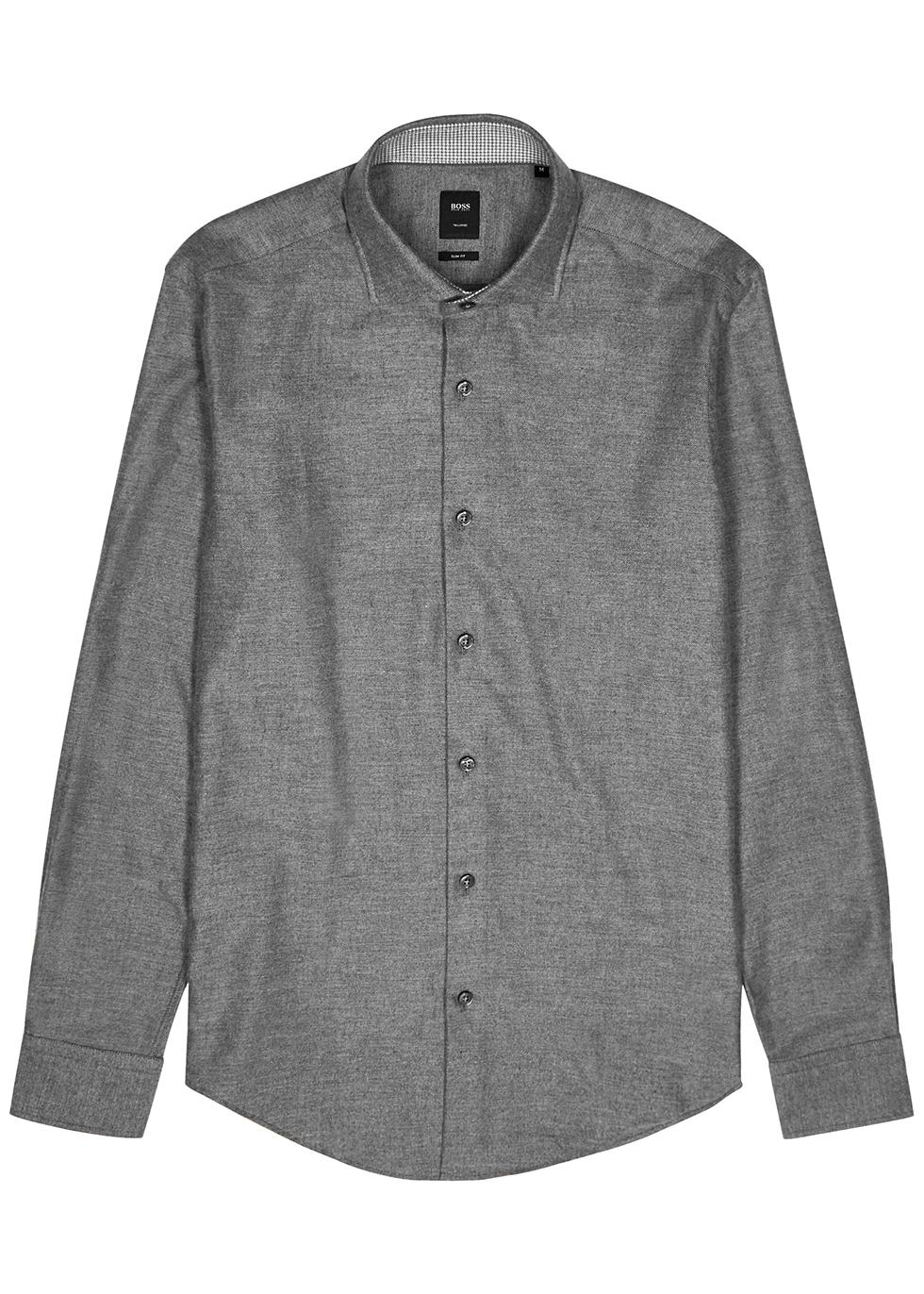 Randolph grey cotton-blend shirt
