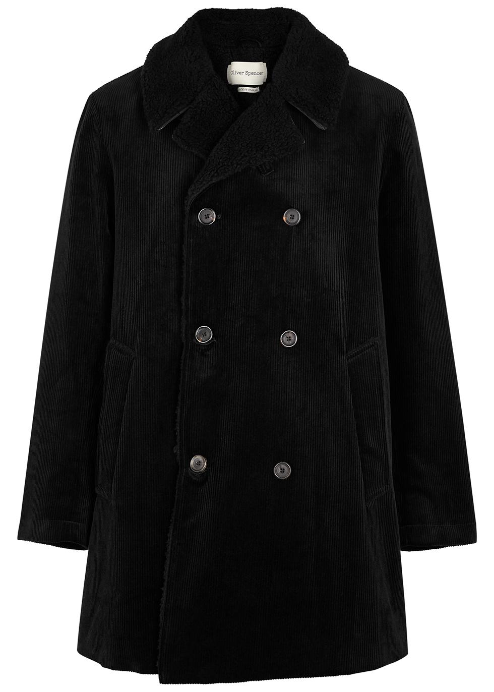 Newington black corduroy coat