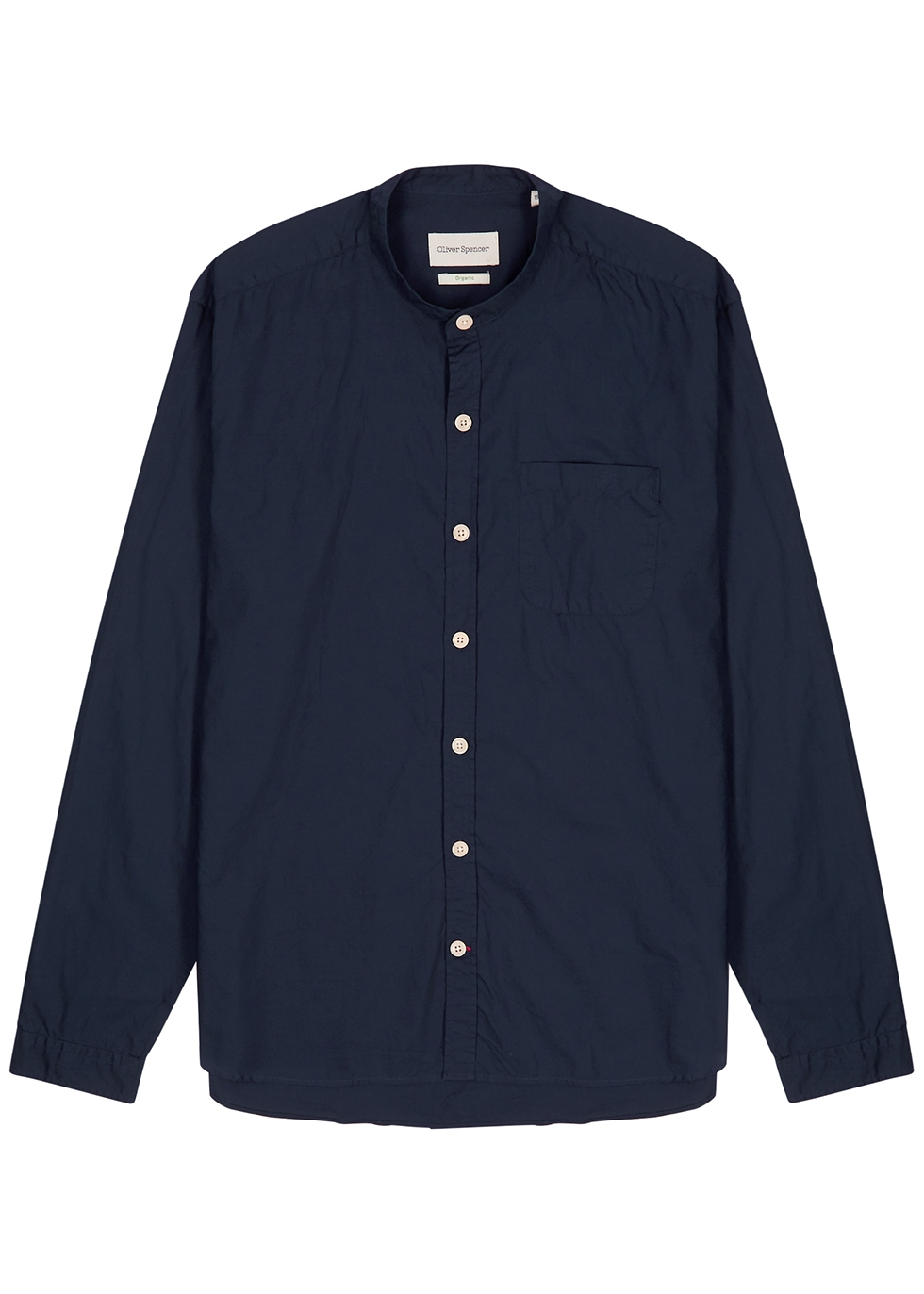 Abbott navy cotton shirt