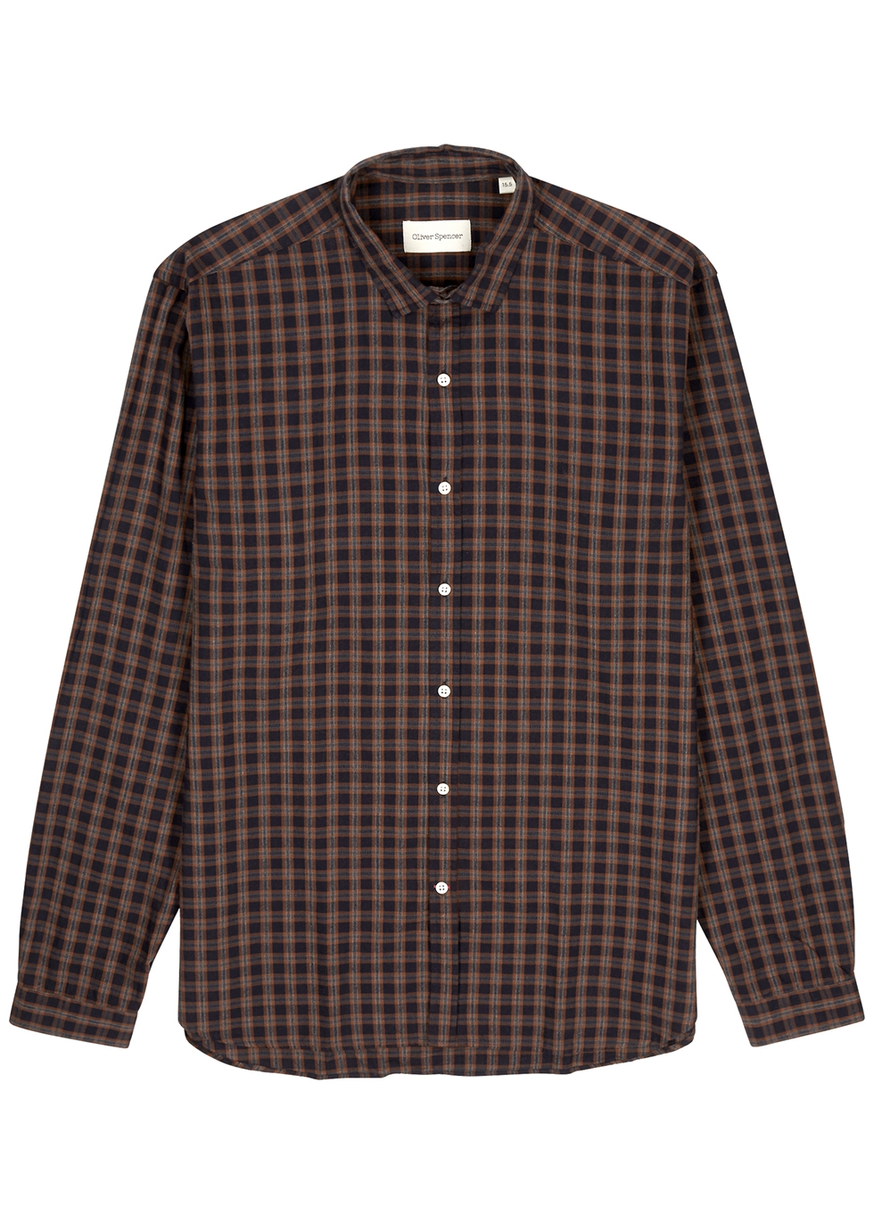 Clerkenwell checked cotton-blend shirt