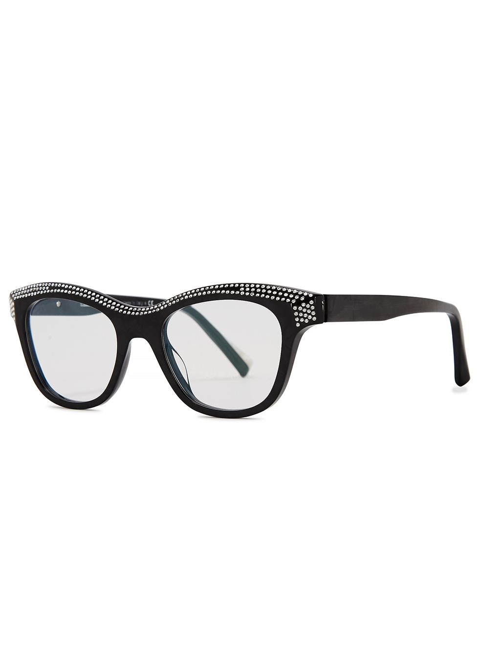 Loulette black wayfarer-style optical glasses