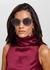 Gold-tone oversized sunglasses - BVLGARI