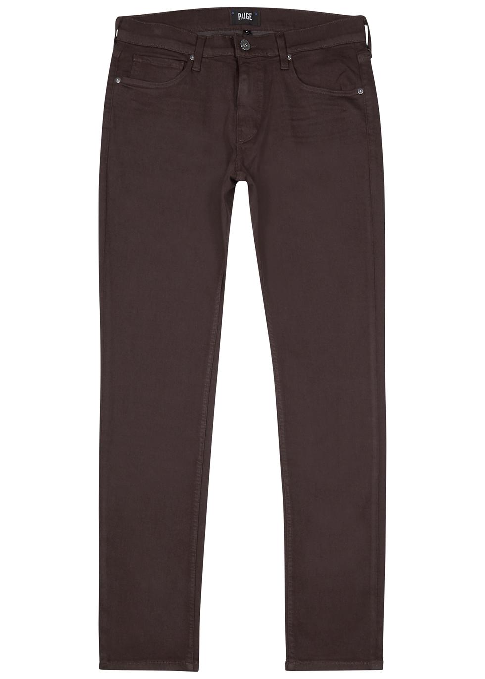 Lennox burgundy slim-leg jeans