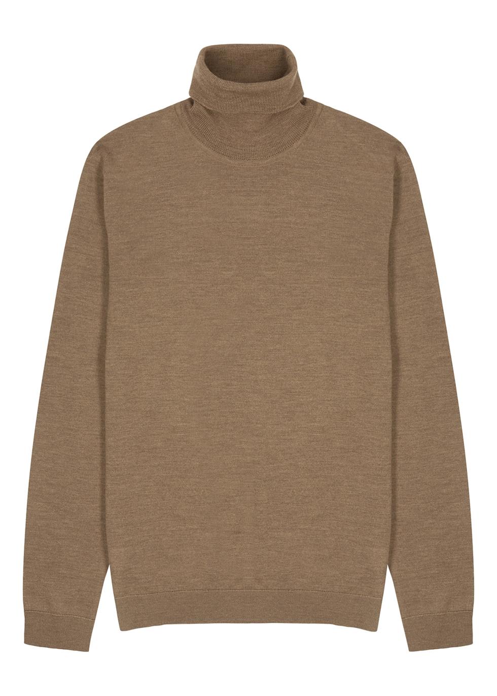 Richard light brown wool jumper