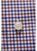 Brown & navy check twill shirt - contemporary fit - Eton