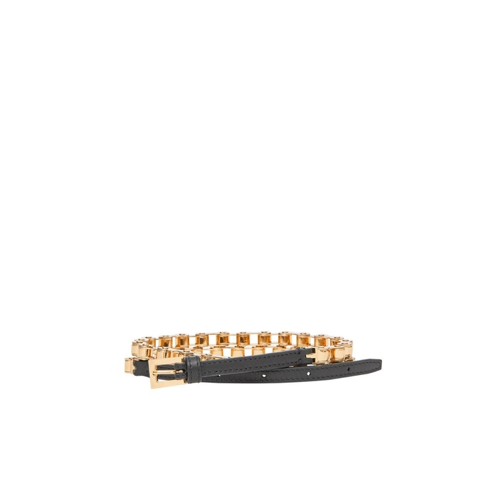 Burberry Leather And Bicycle Chain Belt