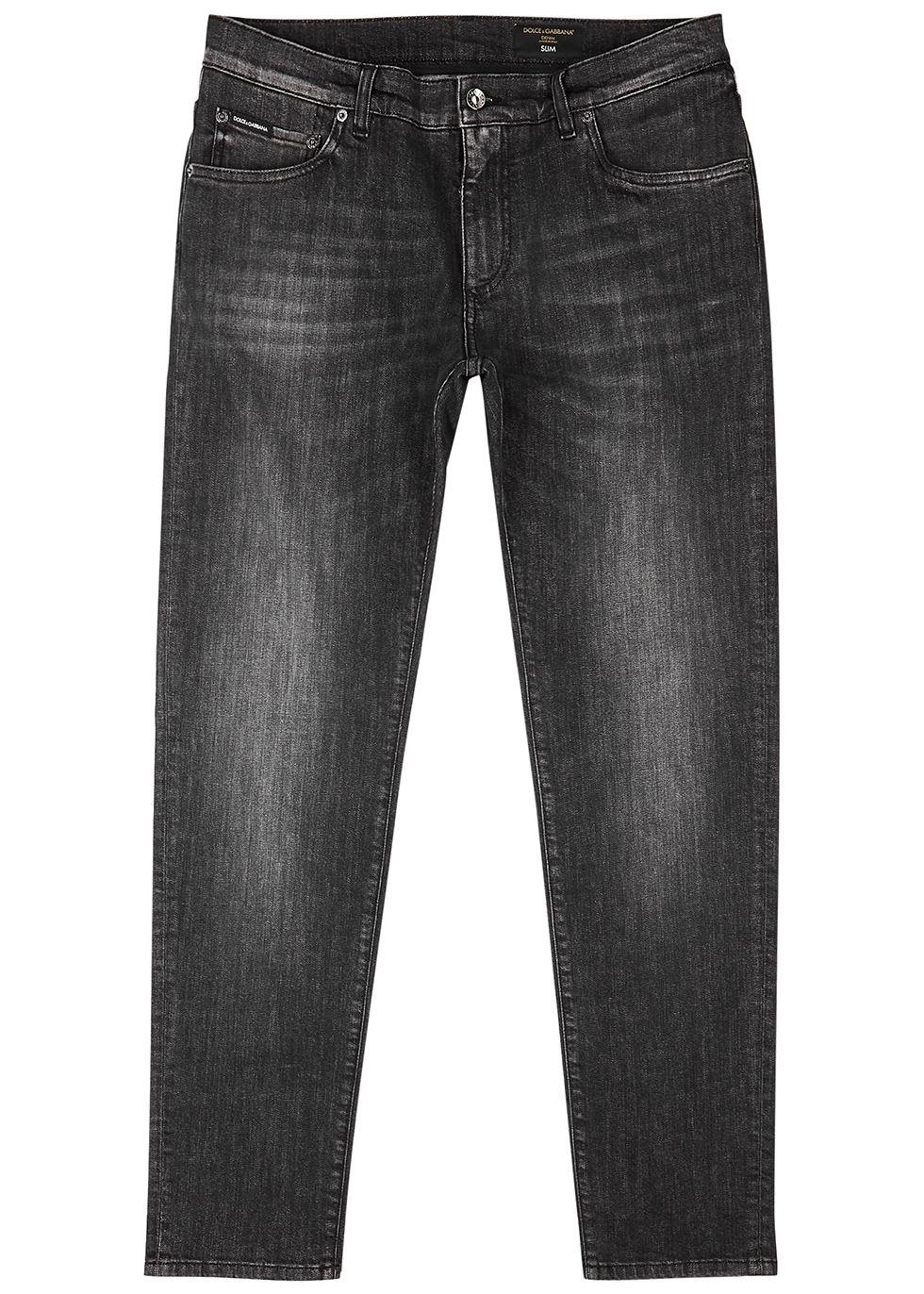 Jeans Off white for Women Dark Grey