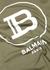 Olive logo cotton T-shirt - Balmain