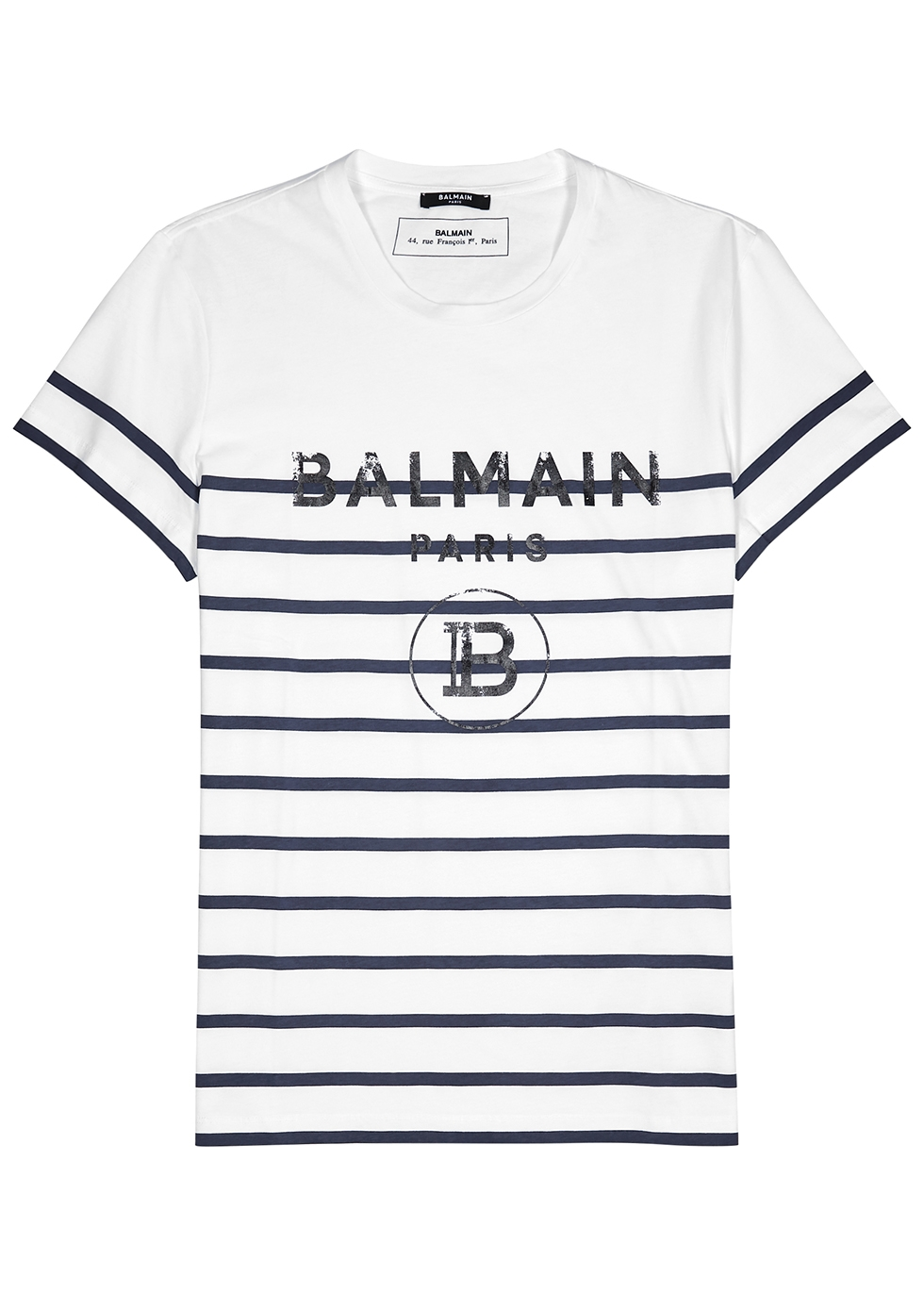 Striped logo-print cotton T-shirt