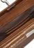 Demilune brown leather saddle bag - gu_de