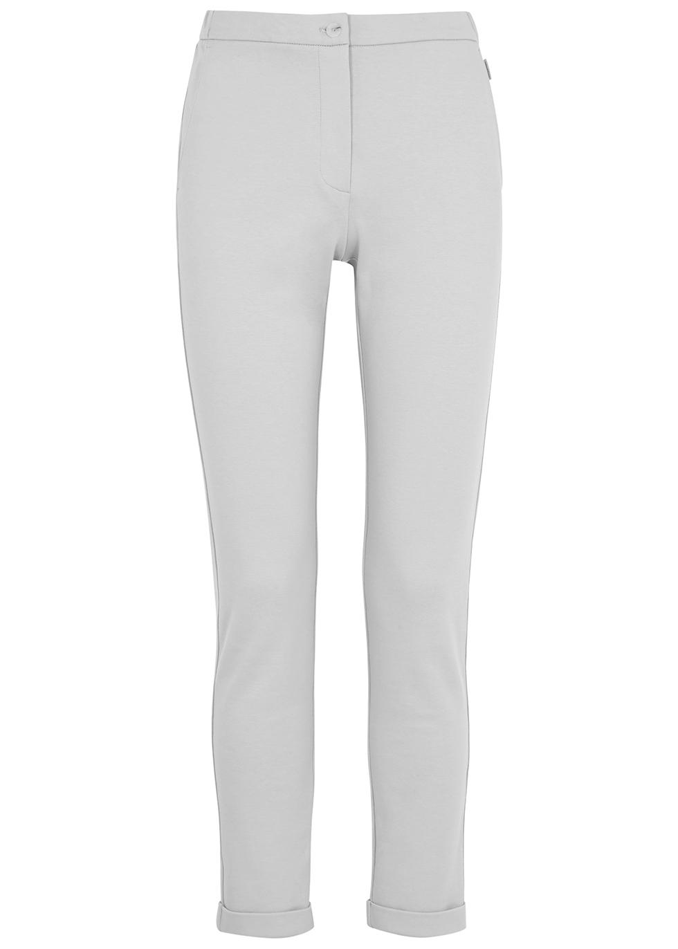Falasco grey slim-leg jersey trousers
