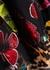 Black floral-devoré chiffon dress - Alice + Olivia