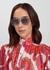 Silver-tone aviator-style sunglasses - Miu Miu