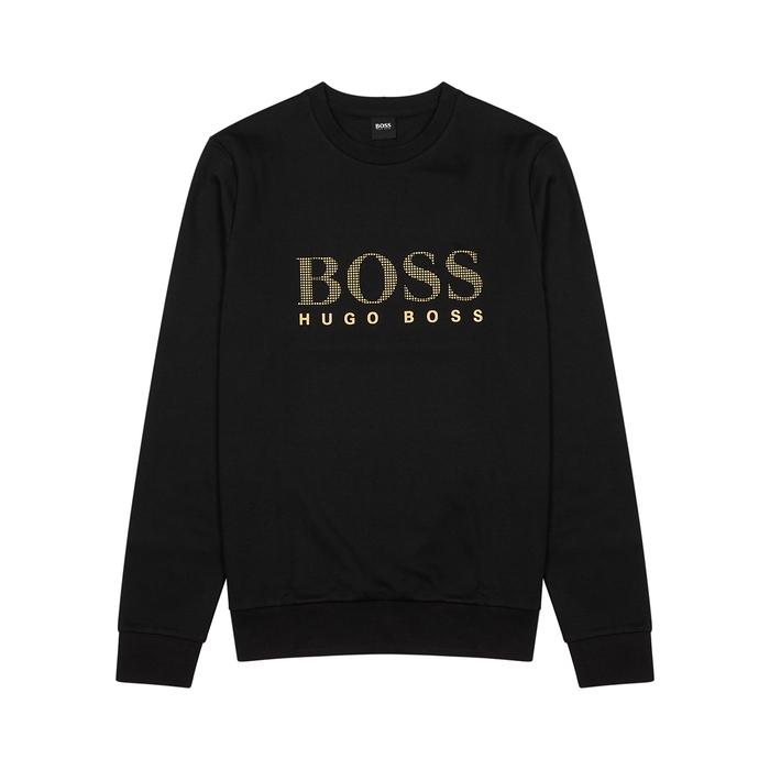 BOSS Black Logo Jersey Sweatshirt