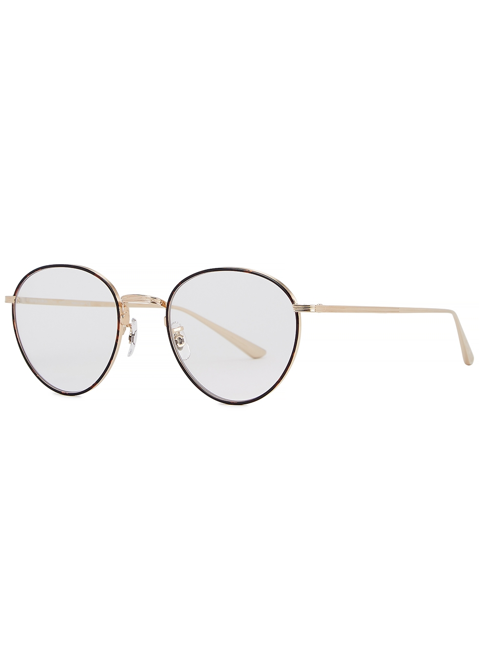 X The Row Brownstone oval-frame optical glasses