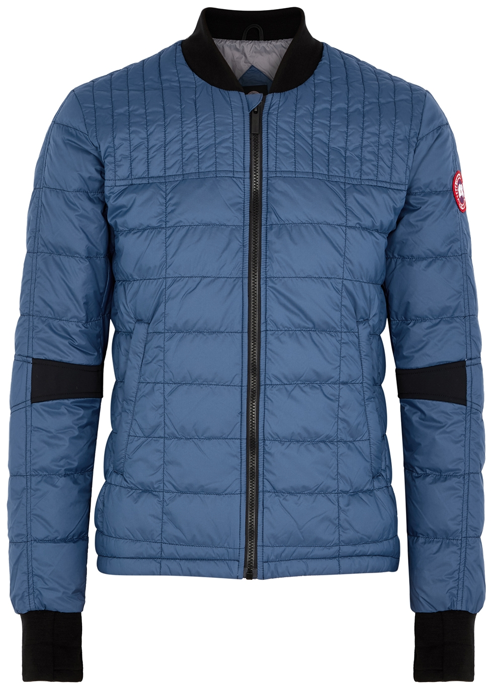 Dunham blue quilted shell jacket