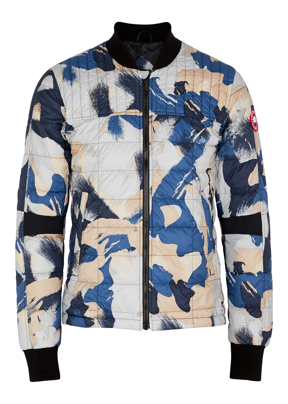 Dunham printed quilted shell jacket