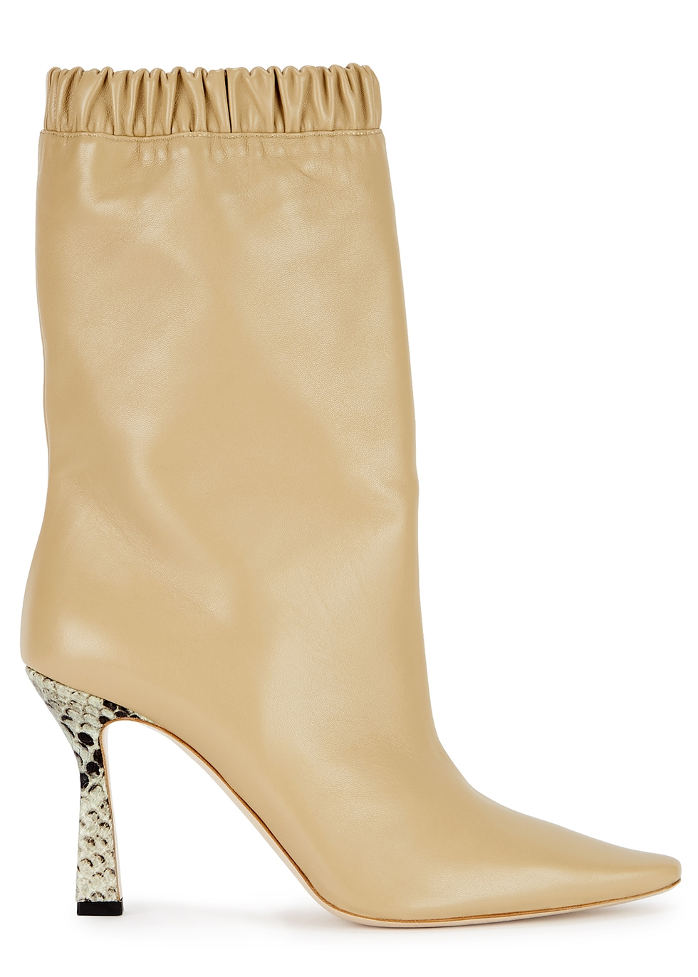 Lina 100 sand leather ankle boots