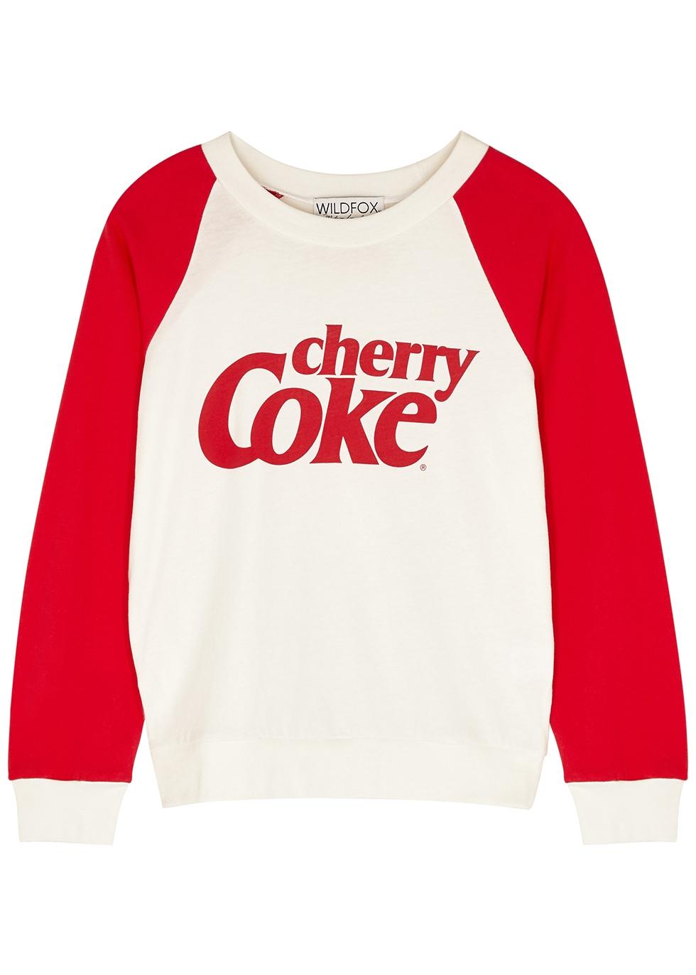Cherry Coke Fiona cotton-jersey sweatshirt