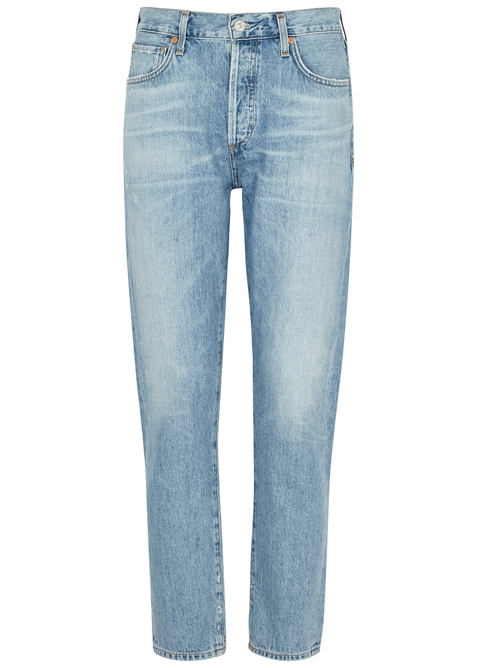 Liya light blue tapered-leg jeans