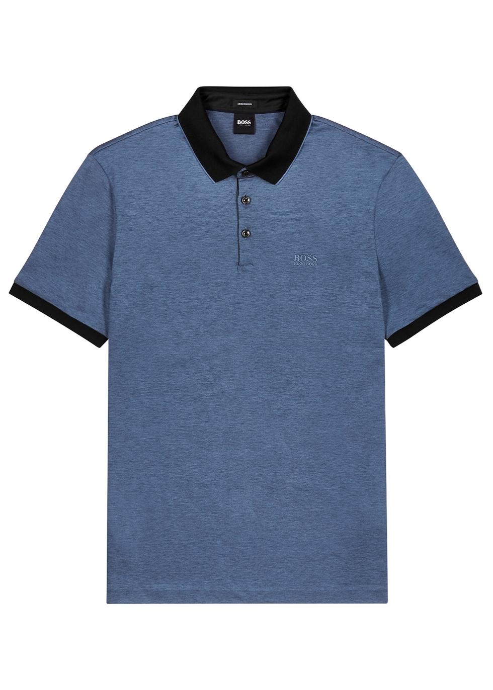 Prout blue cotton polo shirt