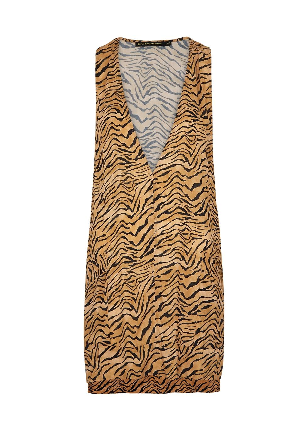 Cecile tiger-print mini dress