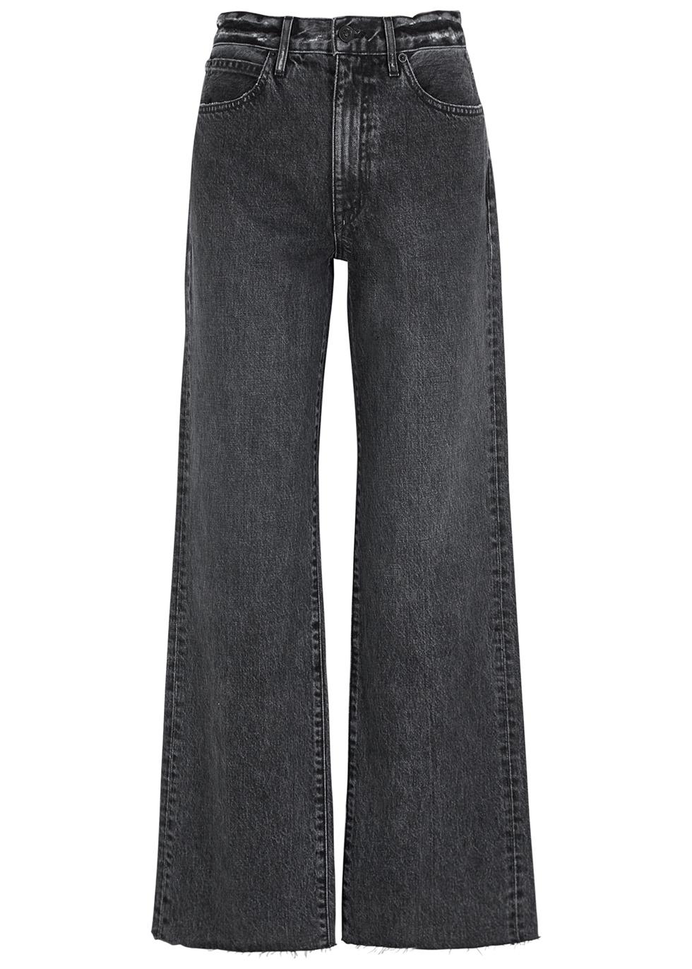 Grace grey wide-leg jeans