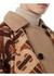 Monogram merino wool cashmere jacquard cape - Burberry