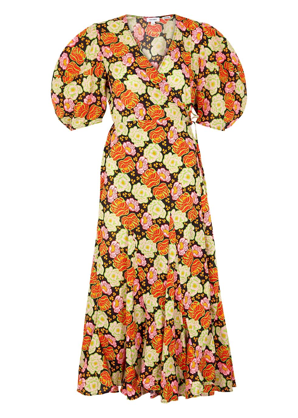 Fiona floral-print cotton wrap dress