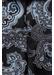 Black jacquard paisley tie - Eton