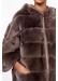 Hooded rabbit fur agnes jacket - Gerard Darel