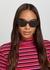 Black oval-frame sunglasses - Ray-Ban