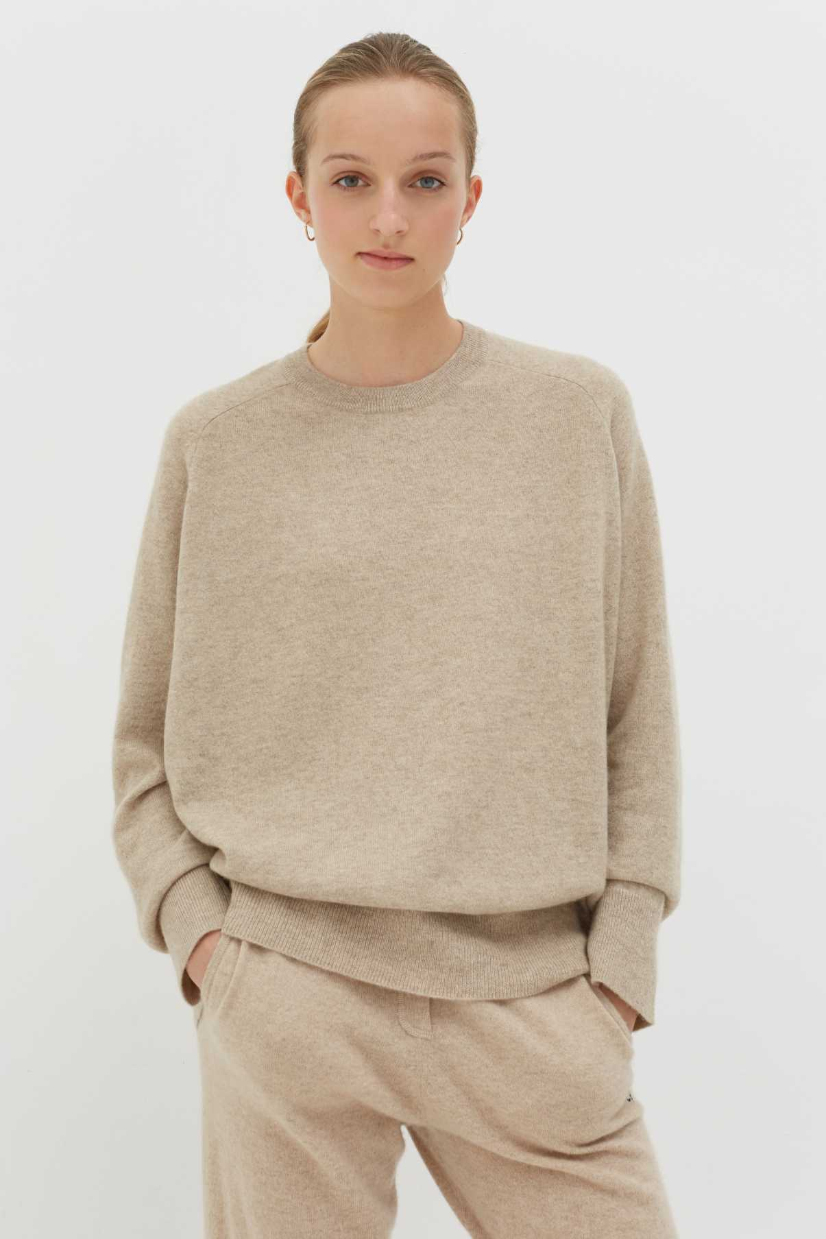 Chinti & Parker Oatmeal cashmere slouchy sweater Harvey