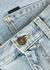 Light blue distressed denim shorts - Saint Laurent