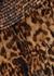 Leopard-print ruffled silk skirt - Saint Laurent