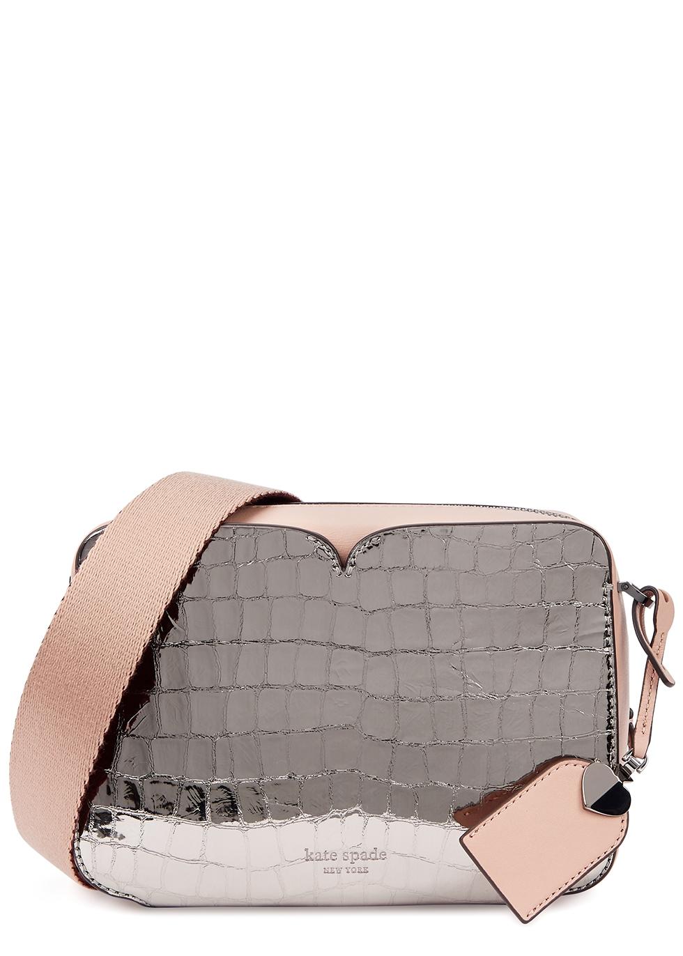 Candid medium leather cross-body bag