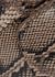 Montalcino python-effect cross-body bag - ATP Atelier