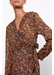 Long printed dena dress with surplice neckline - Gerard Darel