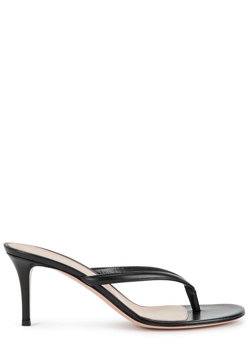 Gianvito Rossi High heels Calypso 70 black leather sandals