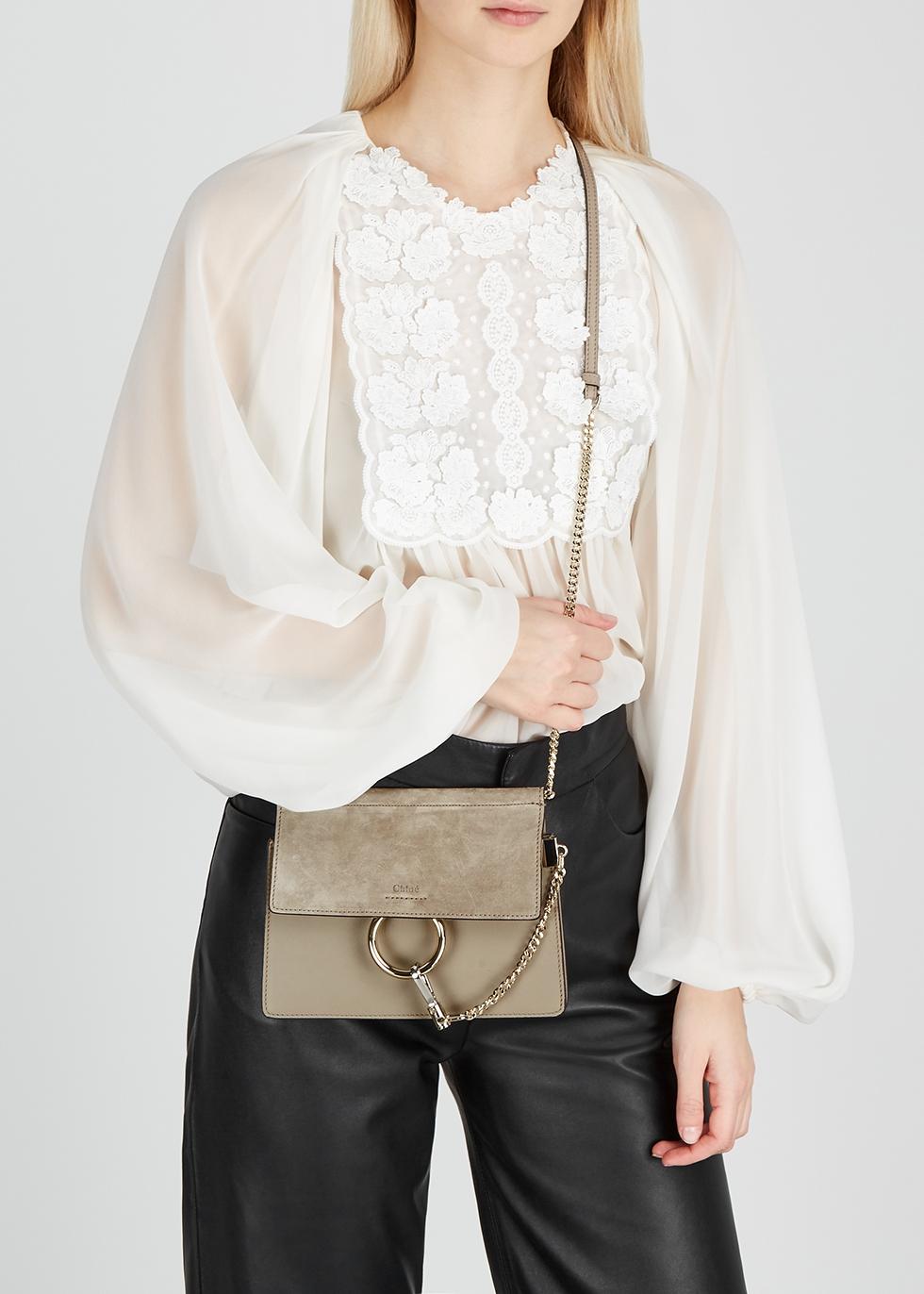 Chloé Faye mini leather shoulder bag Harvey Nichols