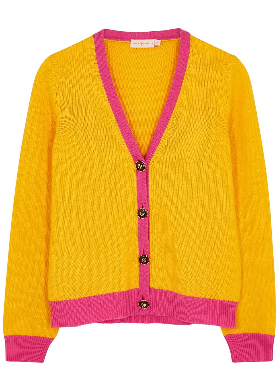 Yellow cashmere cardigan